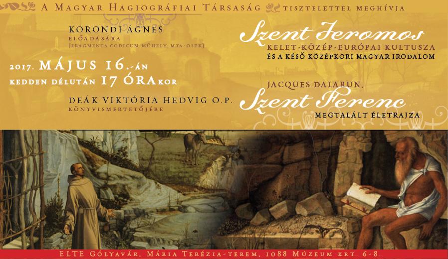 Korondi Ágnes előadása és Deák Viktória Hedvig OP könyvismertetője