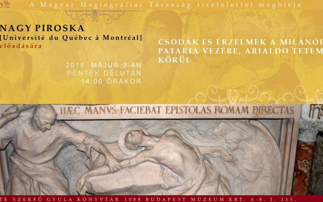 Nagy Piroska előadása, Pierre Dubois könyvének a bemutatója